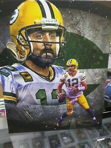 AARON RODGERS PACKERS 16X20 CUSTOM CANVAS PRINT - READY TO HANG