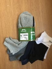 5 x PAIRS MENS Mix Color TRAINER  SPORTS ANKLE SOCKS Slazenger UK 12-15 EU 47-50