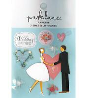 Bride Groom Wedding 3D Planner Stickers Papercraft Shower Embellishments