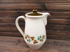 Shamrock by Denby-Langley Coffee Pot w Lid Green Blue & Brown Clovers