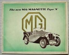 MG MAGNETTE TYPE N Car Sales Brochure Apr 1934