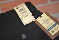 12986-a Mens Haggar Dress Pants Golf Polyester Gray Size 38 x 32 NEW