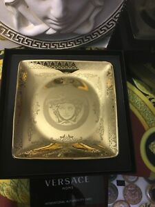 VERSACE ASH TRAY MEDUSA GOLD LUXURY CHRISTMAS GIFT New in Box SALE