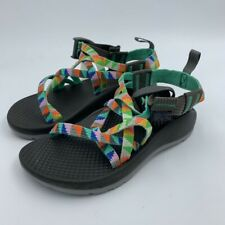 Chaco Girls Zx1 Ecotread Hiking Sandals Camper Turquoise Buckle Straps 11 New