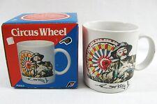 Vtg Emmett Kelly Jr Coffee Mug Clown Circus Ferris Wheel Ceramic Flambro 1987