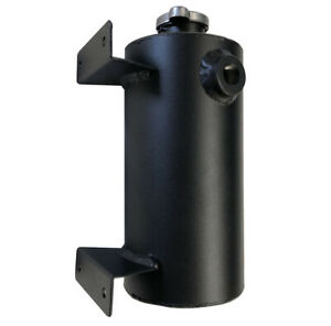 1.5L Universal Aluminum Expansion Coolant Tank Round Style With Cap Black New