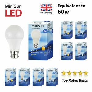 MiniSun LED 6W 10W 15W BC B22 ES E27 GLS Light Bulbs Warm Cool White A+ Lighting