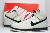 (RARE) Nike Dunk High Shoe Light Bone Black 904233-002 Men's 10