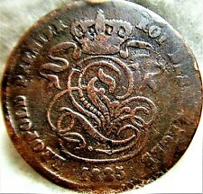 1835 BELGIUM 2 Centimes Coin #2 of 2 - Well Preserved, Great Addition, See Pics