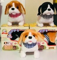 Walking Toy Puppy -Battery Operated Tail Wagging Plus Dog