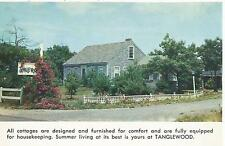 Bass River Cape Cod MA Tanglewood Cottages Postcard 1950s