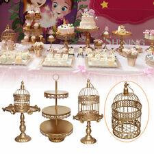 12Pcs Set Crystal Metal Cake Holder Cupcake Stand Birthday Wedding Party Display