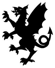 Dragon Laser Cut Out Wall Décor Silhouette Metal Sign 11.5x14.5  RVG339B