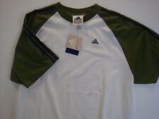 NWT Adidas White Green Tee T Shirt SHORT SLEEVE XL Extra Large