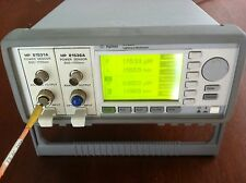 Agilent 8163A optical power meter with 81531A and 81536A power sensors