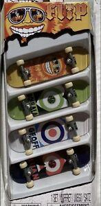 Tech Deck 2011 FLIP 4 Pack 96 mm Fingerboard Skateboard Spin Master NIP