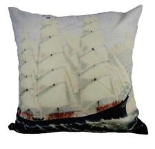 One Duck Two Ship Artwork velveteen cushion cover 45 x 45