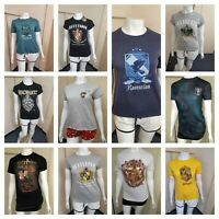 Women's T-Shirt Short Sleeve Top Harry Potter Character Printed  Primark