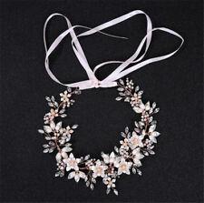 Wedding Rose Gold Tiara Headband Rhinestone Hair Accessories Headpiece Crown HKV