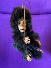Rare Vintage Monkey Chimp String Puppet Real Fur