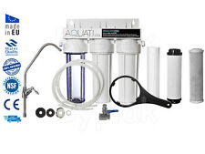 Premium 3 Stage Home Under Sink Water Purifier and Dechlorinator Filter Kit