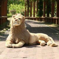 Jungle Animal Huge Lion Plush soft Cuddly stuffed Big King Gift Kid Birthday Toy