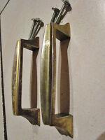 2   poignées de meuble-commode chromé vintage 1950