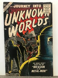 UNKNOWN WORLDS, JOURNEY INTO  SEPT.1956  ATLAS  VOL. 1 #49