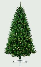 1.8m Pre Lit Christmas Tree Deluxe LED Lights Green Nordic Fir Tree 6 FOOT
