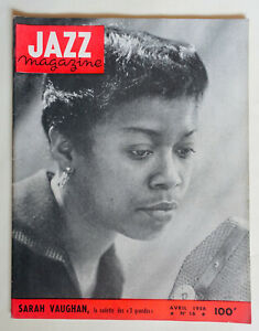 JAZZ  MAGAZINE 16 avril 1956 SARAH VAUGHAN CHET BAKER GERRY MULLIGAN R. BRAFF