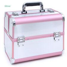 Aluminium Beauty Box Cosmetic Make Up Nail Lock Jewelry Vanity Case 32*21*26cm