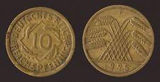 GERMANIA GERMANY 10 REICHSPFENNIG 1925 F