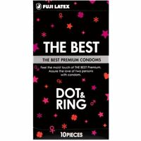 The Best condom dot & ring black 10 pieces