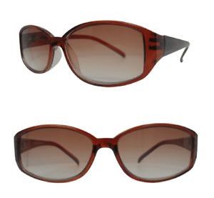 Sun Readers UV Lenses Ladies Designer Brown Reading Sunglasses Spring Hinges