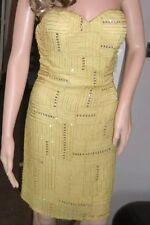 BNWT Ladies Scala Gold Sequin Embellished Bandeau Silk Mini Dress - UK 6, USA 2