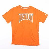 Vintage NIKE Just Do It Big Logo Orange Sports Casual T-Shirt Men's Size Large