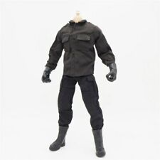 "1/6 Scale Black Uniform Jacket Pants Military Clothes For 12"" Action Figure UK"