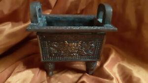Antique Vintage Chinese Bronze Brass Incense Burner Censer