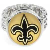 New Orleans Saints Silver Mens Womens Football Ring Fits All Sizes w Gift Pk D2