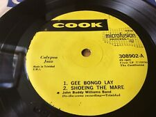 John Buddy Williams Gee Bongo Lay rare calypso Trinidad Cook records 45