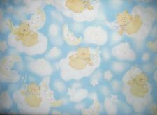 Quilt, Sew, Fabric  1 YD On a Cloud  Bears Michael Miller Fabrics Flannel Blue