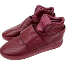 Adidas Mens Tubular Invader Strap Maroon Leather Size 13 Sport Shoes