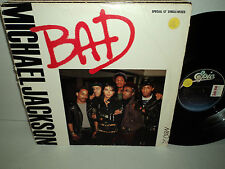 "MICHAEL JACKSON ~ BAD SPECIAL 12"" SINGLE MIXES ORIGINAL 1987 MJJ LP / RECORD"