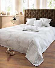 Überwurf Luisa Bettüberwurf Sofa Couch Tagesdecke Decke sand/weiß 220 x 240 cm #