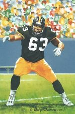 Dermontti Dawson Pittsburgh Steelers unsigned Goal Line Art Card in Toploader