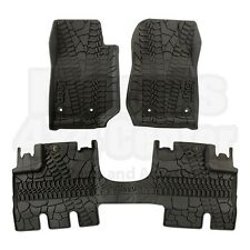 Jeep Wrangler Unlimited JK 4 Door Mopar Rubber Slush Floor Mats OEM