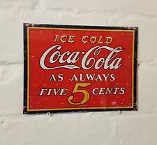 Coca Cola Pub Bar signo, Retro Vintage de Aluminio de Metal Cerveza signos coque Cueva de hombre