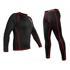Mens Winter Underwear Base Layer Compression Long Johns Thermal Top & Bottom Set