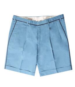 Brioni Men's Bluette Cotton Silk Bermuda Shorts Regular fit, Size 56 (40 US)