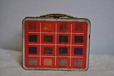 AB Vintage Orange Plaid Ohio Art Metal Lunchbox